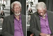 Morgan Freeman si addormenta durante un'intervista in diretta Tv